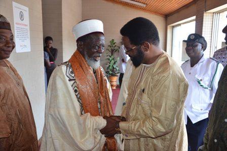 Mayor welcoming The Chief Imam