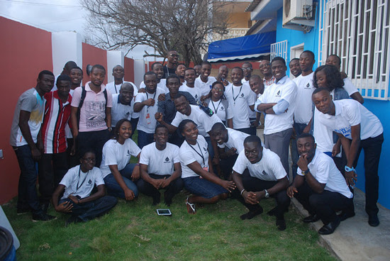 Participants of Ghana?s first hackathon for oil and gas governance included developers from the countries? top universities and schools of technology. Photo by PenPlusBytes