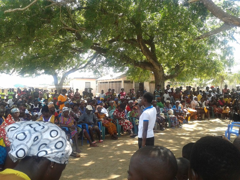 Women of Africa Foundation addressing some residents of Ningo-Prampram