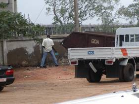 Public Sanitation-(Right to Piss)- Driver License Office, Accra (By K. Danso, July-2004)