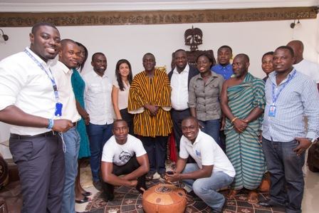 Tigo leadership team visit Paramount Chief of Esikado, Nana Kobina Nketsia V
