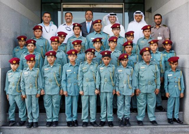 Al Bawadi Primary School student during their visit to Security Media Department
