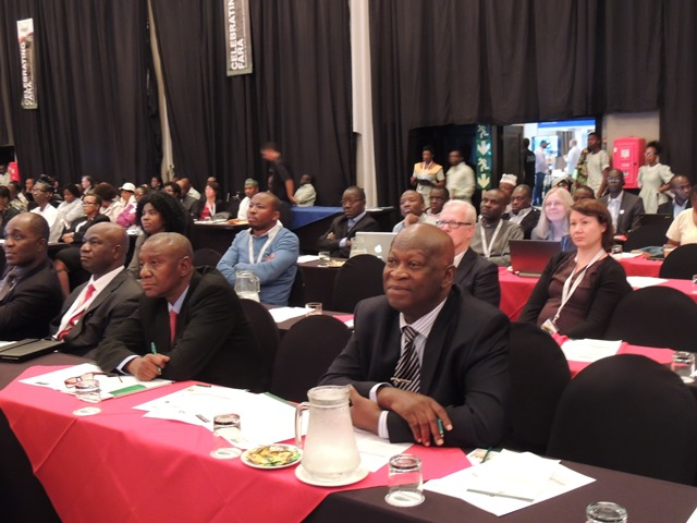 Dr Alfred Dixon, Head of Partnership Coordination Office (right in front) and leader of delegation from IITA with other guests to mark the 15 anniversary of FARA in Johannesburg