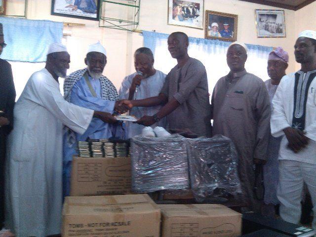 Ghana Islamic Microfinance donation to Shiekh Usman Nuhu Sharubutu Education Trust Fund