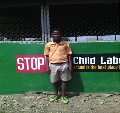 Master Abalo Bless, a victim of child traffickingMaster Abalo Bless, a victim of child trafficking