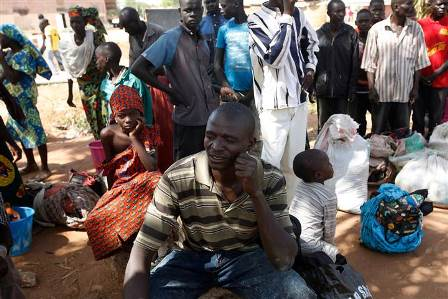AP - Villagers who fled the Nigerian village of Gwoza following an attack by Boko Haram on Nov. 27