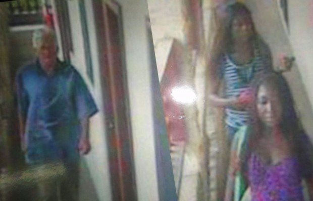 The two ladies captured on the CCTV.The victim (left)