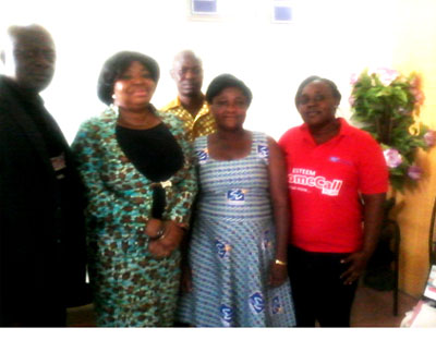 Lydia Bawa, (2nd from left) with staff of Starlife Insurance Company Limited