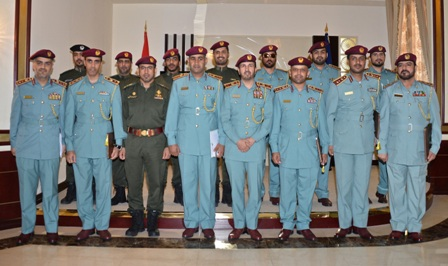 Major General Al Nuaimi in a group shot with the honorees