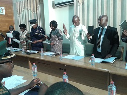 section-of-the-Board-Members-with-Mr-Cletus-Avoka-extreme-left-swearing-the-official-oath-of-office-and-secrecy