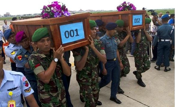 Two of the bodies are returned in coffins