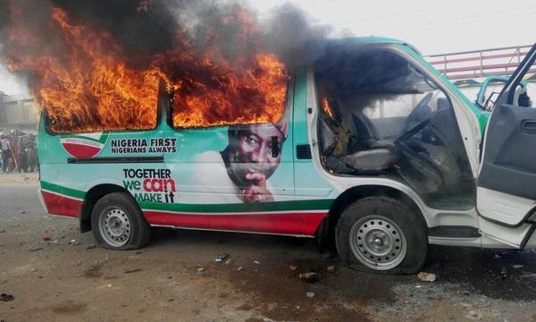 Burnt Jonathan's vehicles