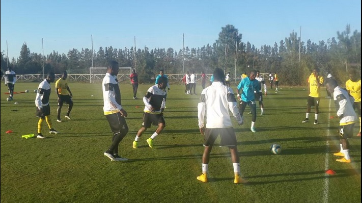 Ghana players in training on Friday