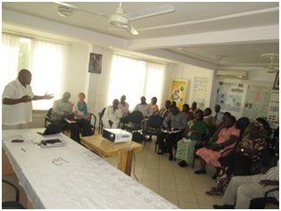 GDC-Ghana Chair, Dr. Koku Awoonor-Williams addressing the stakeholder meeting