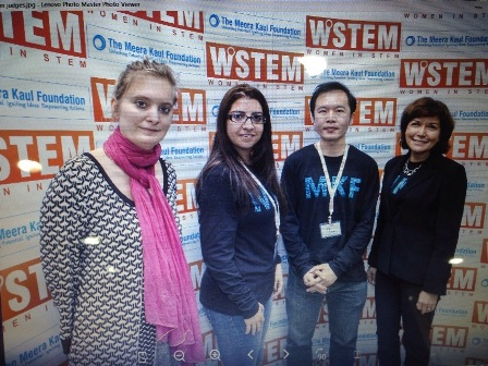 Dr. Franziska Apprich, Dean of Academic Affairs of Canadian University Dubai, Hackathon Judges; Delnaz Kakroo, Jieyi Long, Claudia Galvan