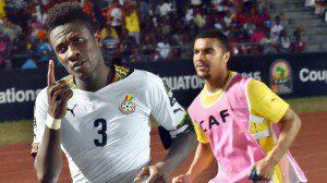 Asamoah Gyan the dramatic winner in Ghana?s game against Algeria