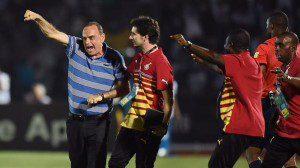 Avram Grant celebrates Ghana?s dramatic winner against Algeria