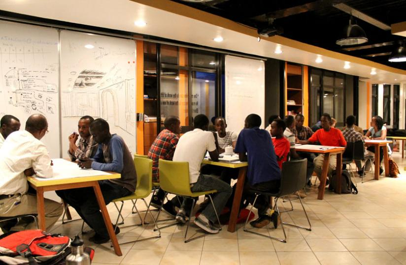 ICT innovators at K-lab share ideas on how to develop software in the recent past. (File)