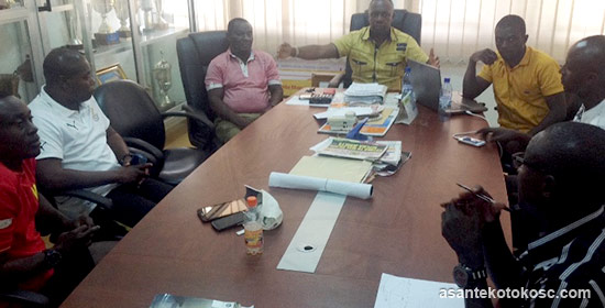 Management meeting the technical team in Kumasi.