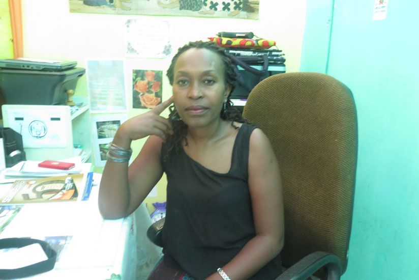 Nibagwire in her home-based office in Kiyovu