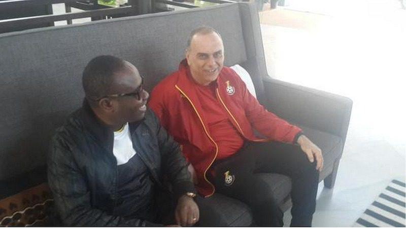 Kwesi Nyantakyi and Ghana coach Avram Grant