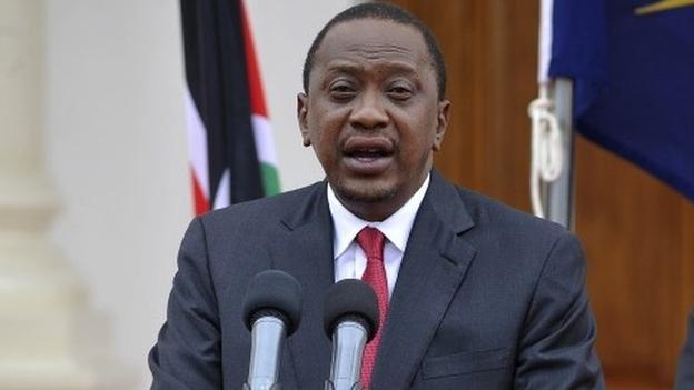Kenyan President Uhuru Kenyatta