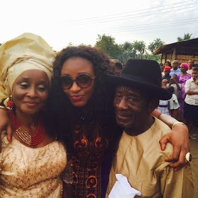 Ini Edo and her parents