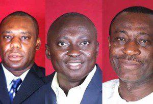 Dr. Mathew Opoku Prempeh, Samuel Atta Akyea, Dr. Anthony Akoto-Osei