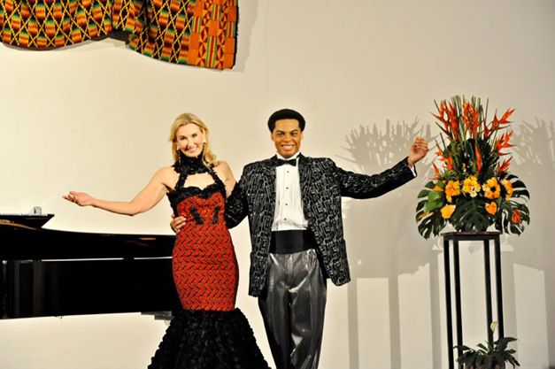Antonio Watts with a female performer