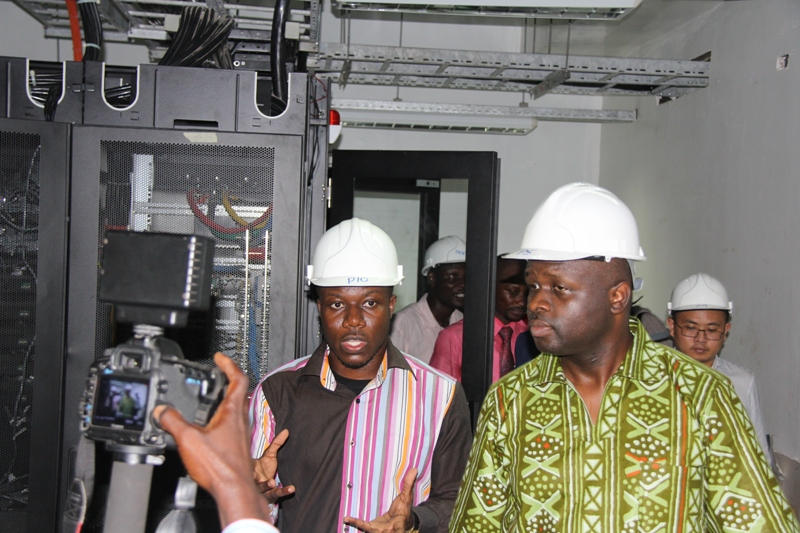 Minister of Communication, Dr Edward Omane Boamah tours ongoing projects in Accra.