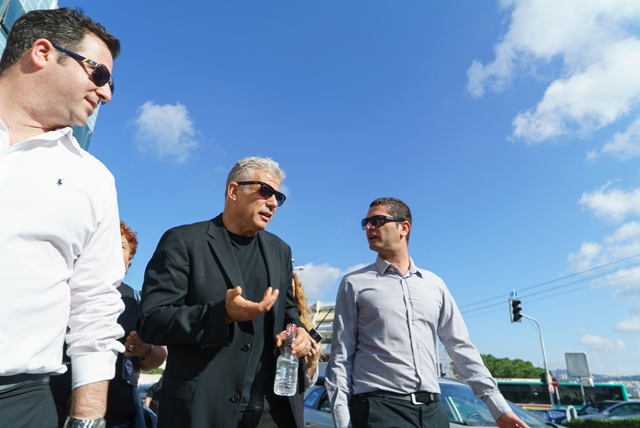 Yair Lapid (2nd R, Front), Israel's