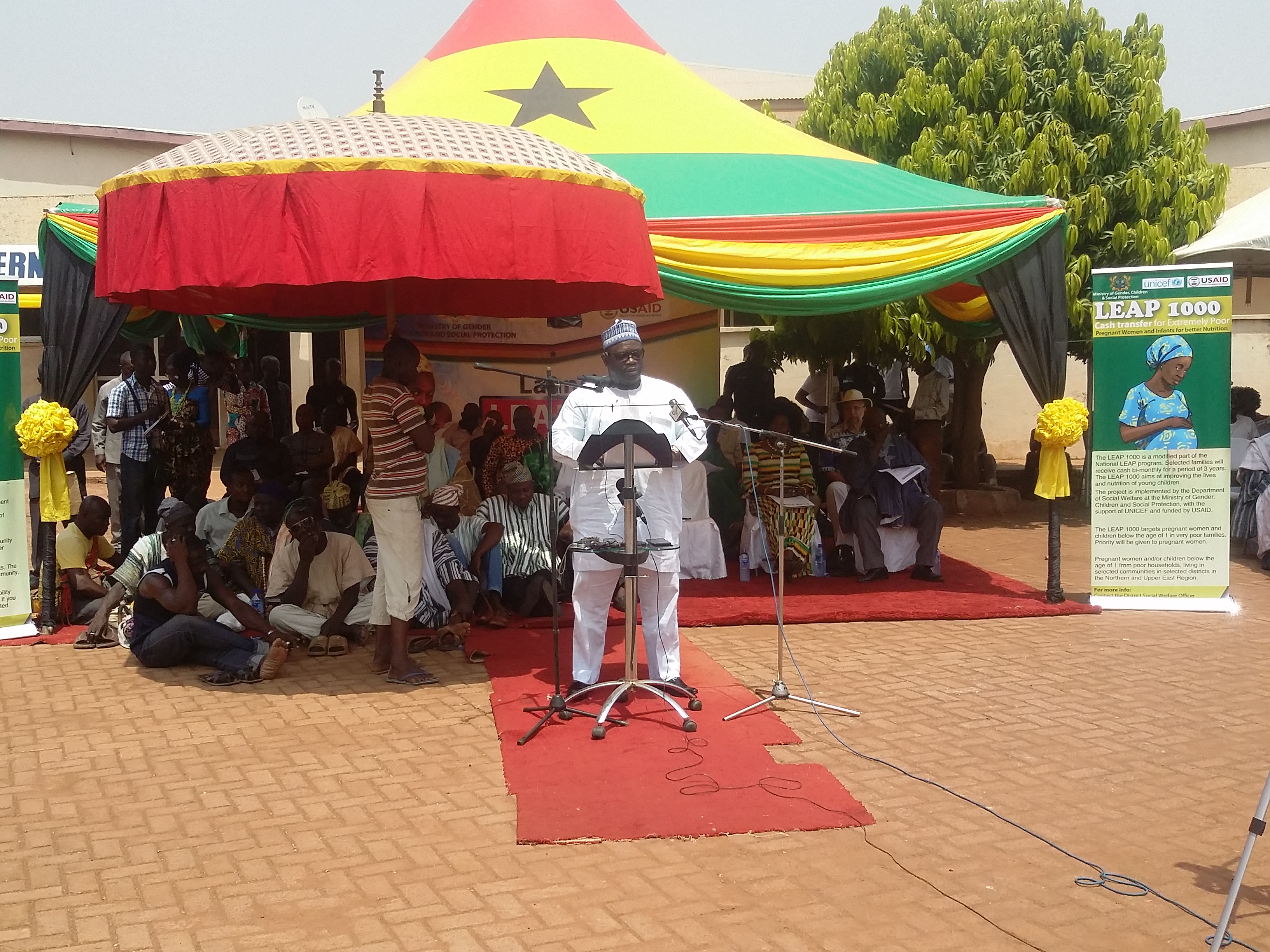 Alhaji Mohammed Muniru Limuna addressing the gathering at the launch.
