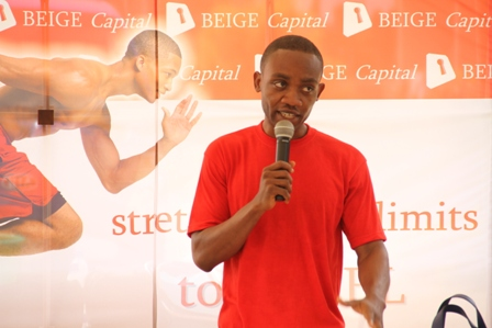 MR. MICHAEL DJANIE SPEAKING AT THE EVENT