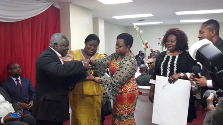 Mr Ken Kanda, Ghana?s Ambassador Extraordinary and Plenipotentiary to the United Nations, Nana Oye Lithur, Minister of Gender, Children and Social Protection and other dignitaries at the get-together