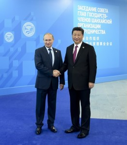 Vladimir Putin meets with China's President Xi Jinping