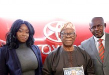 Peace Hyde, Chief Michael Ade-Ojo and Herman Chinery-Hesse