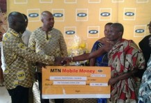 The management of the Telecommunication Network, MTN Ghana on Thursday presented a check