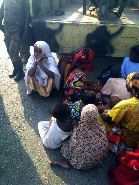 Women and children that had earlier been kidnapped by Boko Haram militants are seen after been rescued by Nigerian troops in Borno State, Nigeria, Sept. 15, 2015. According to Nigeria's Army Spokesman Colonel Sani Kukasheka Usman, the rescued women and children were freed from Boko Haram's bondage during an operation on Tuesday morning. (Xinhua/Dare Sholarin)