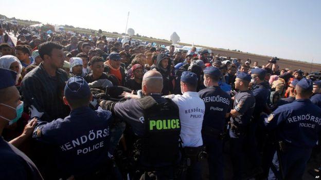 Migrants (Pic: AP)