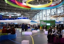 Open Innovations forum and technology show takes place in VDNH exhibition hall in Moscow, Russia, Oct. 28, 2015. Open Innovation Forum kicked off here on Wednesday focusing on future technologies in the modern human society, economy and everyday life. (Xinhua/ Pavel Bednyakov)