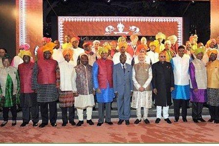 African leaders at India-Africa Summit