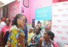 Mrs. Lordina Mahama talks to women on Breast cancer