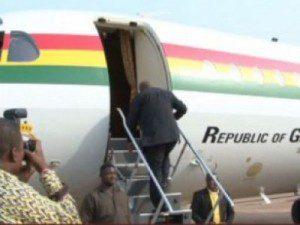 President Mahama leaves Accra
