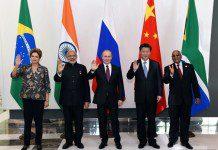BRICS leaders Chinese President Xi Jinping, Russian President Vladimir Putin, Indian Prime Minister Narendra Modi, South African President Jacob Zuma and Brazilian President Dilma Rousseff pose for photos in Antalya, Turkey, Nov. 15, 2015. (Xinhua/Rao Aimin) (zhs)