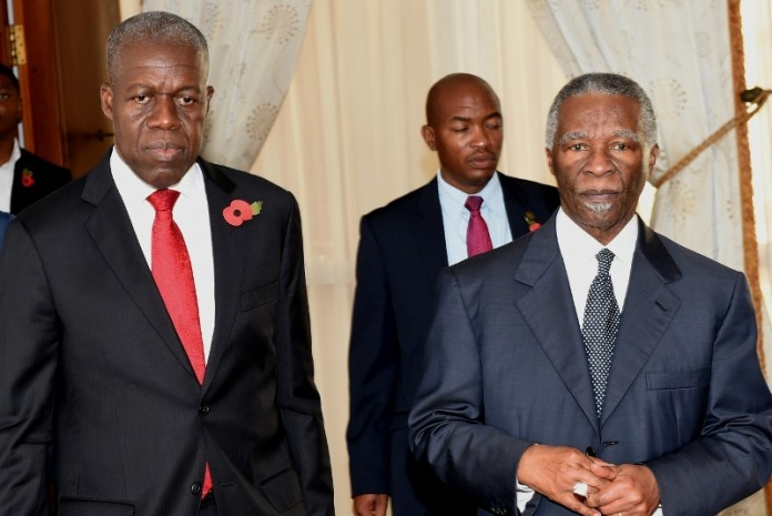 Vice President Amissah-Arthur in a group photograph with former President Thabo Mbeki and his delegation