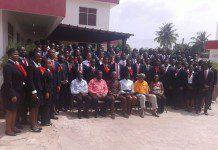inductees and dignitaries