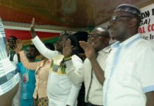 Bice Osei Kufuor (Obour) and pther elected MUSIGA executives