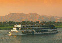 Cruise ship on the Nile