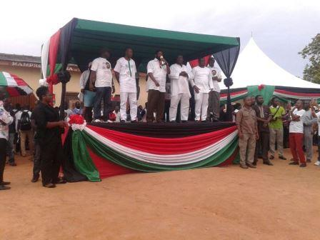 Dr Vanderpuye with his campaign managers