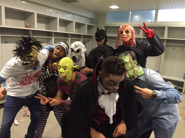 Halloween in Getafe after the game